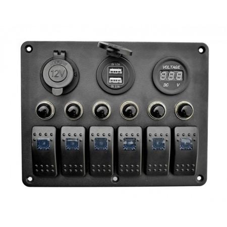 Панель на 6 переключателей автомат +...