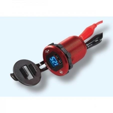 USB зарядка 3A и 2А LED