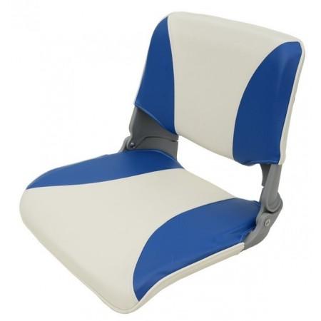 Складное кресло сине-серое