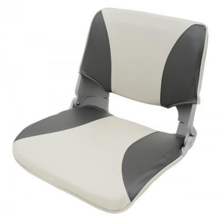 Складное кресло серо-черное