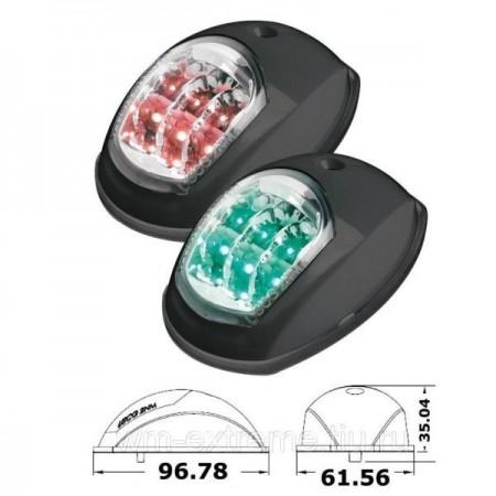 Пара навигационных огней LED, черный...