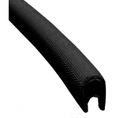 Уплотнитель ПВХ профиль 14х10мм чёрный